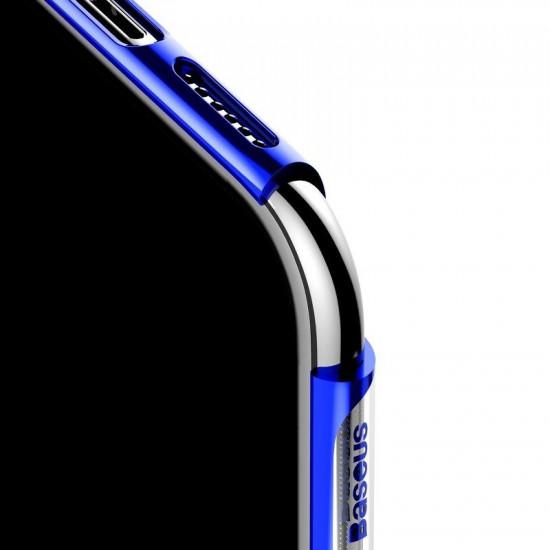 Baseus Glitter Electroplating Σκληρή Θήκη για Apple iPhone 11 - Blue - WIAPIPH61S-DW03