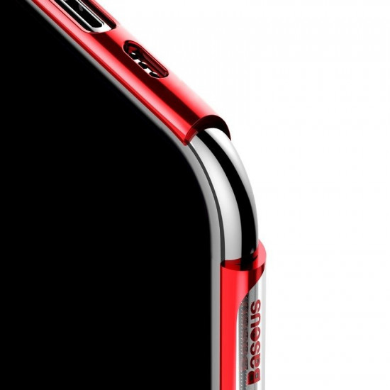 Baseus Glitter Electroplating Σκληρή Θήκη για Apple iPhone 11 Pro Max - Red - WIAPIPH65S-DW09