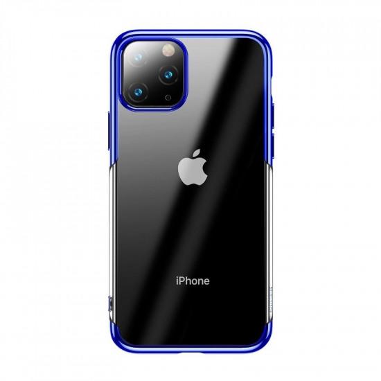 Baseus Apple iPhone 11 Pro Shining Case - Θήκη Σιλικόνης - Clear / Blue - ARAPIPH58S-MD03