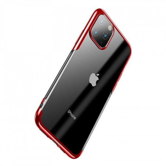 Baseus Apple iPhone 11 Pro Shining Case - Θήκη Σιλικόνης - Clear / Red - ARAPIPH58S-MD09