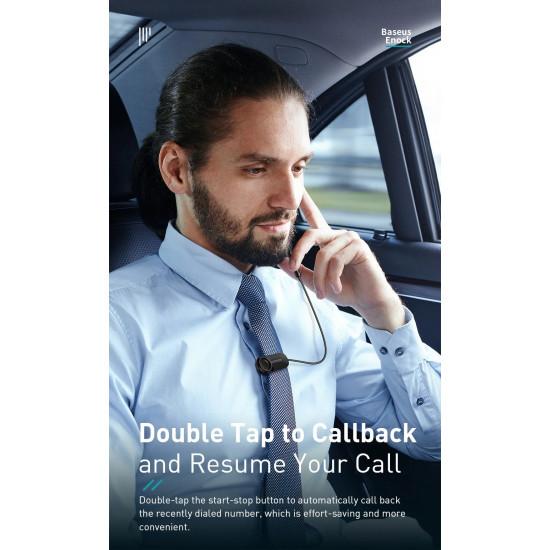 Baseus A06 Portable Business Wireless Bluetooth 5.0 Earphone - Ασύρματο ακουστικό με Μαγνητική Βάση και Κλιπ - Black - NGA06-01
