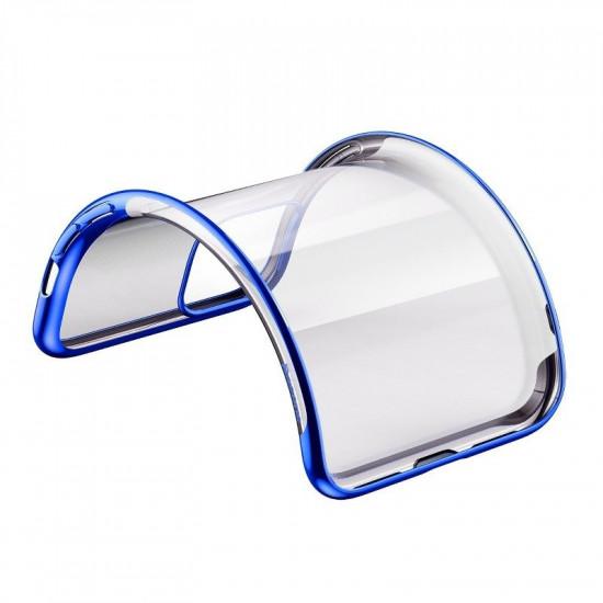 Baseus Apple iPhone 11 Shining Case - Θήκη Σιλικόνης - Clear / Blue - ARAPIPH61S-MD03