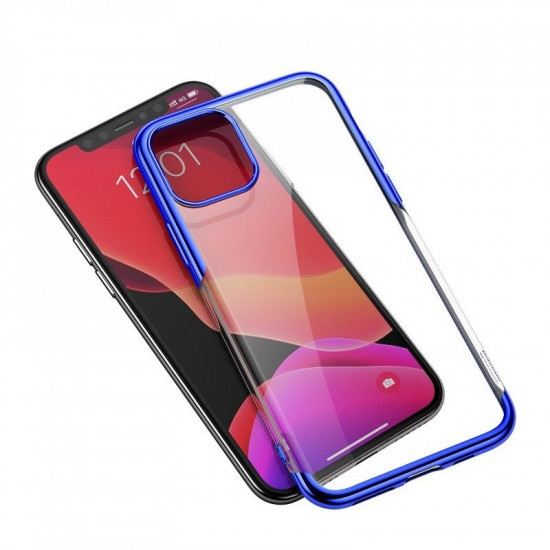Baseus Apple iPhone 11 Pro Max Shining Case - Θήκη Σιλικόνης - Clear / Blue - ARAPIPH65S-MD03