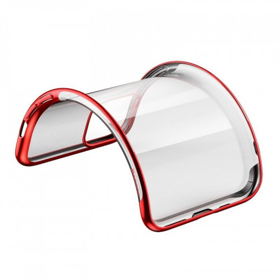 Baseus Apple iPhone 11 Pro Max Shining Case - Θήκη Σιλικόνης - Clear / Red - ARAPIPH65S-MD09