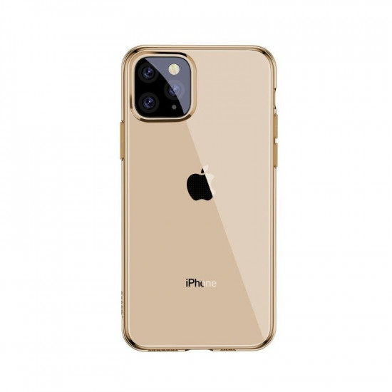 Baseus Simplicity TPU Case for Apple iPhone 11 Pro - Clear - Gold - ARAPIPH58S-0V