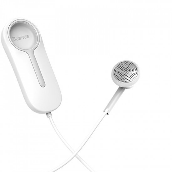 Baseus A06 Portable Business Wireless Bluetooth 5.0 Earphone - Ασύρματο ακουστικό με Μαγνητική Βάση και Κλιπ - White - NGA06-02