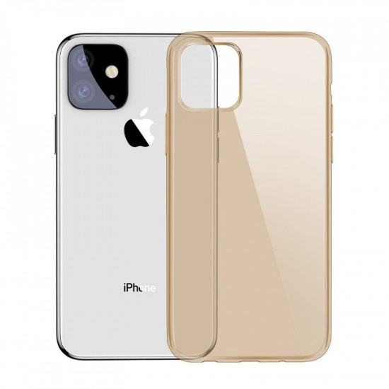Baseus Simplicity TPU Case for Apple iPhone 11 - Clear - Gold - ARAPIPH61S-0V