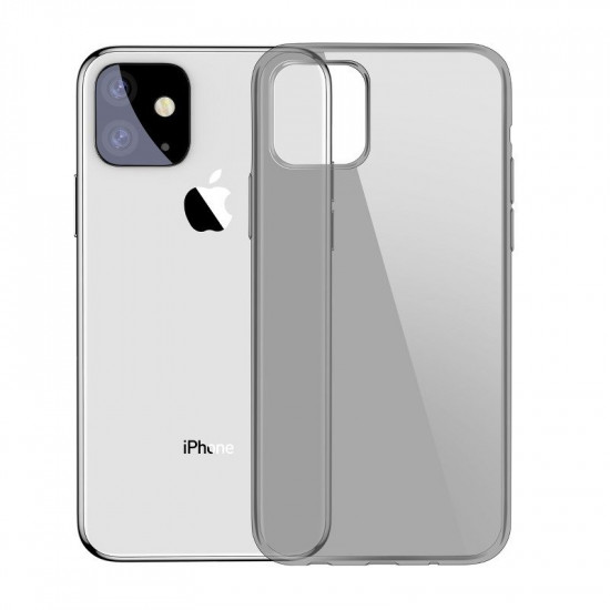 Baseus Simplicity TPU Case for Apple iPhone 11 - Clear - Black - ARAPIPH61S-01