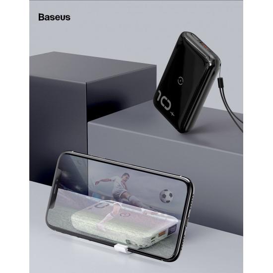 Baseus Mini S Bracket 10W Wireless Charger Power Bank 10000mAh με 1 Θύρα USB και Ασύρματη Φόρτιση QI - Black - PPXFF10W-01