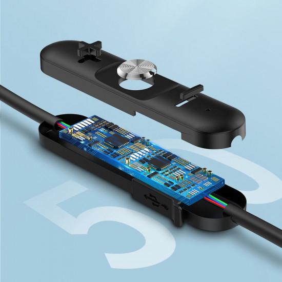 Baseus Encok S30 Sports Bluetooth 5.0 Headset - Ασύρματα Ακουστικά για Smartphones - Tarnish - NGS30-0A