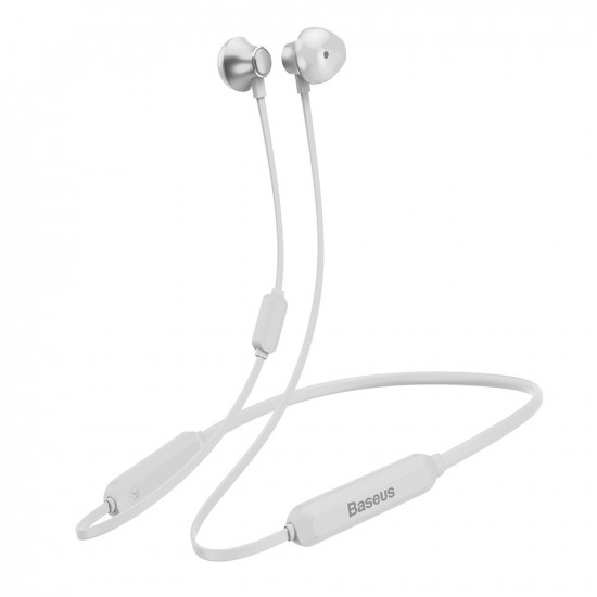 Baseus Encok Necklace S11A Bluetooth 5.0 - Ασύρματα Αθλητικά Ακουστικά για Smartphone / iPhone - White - NGS11A-02