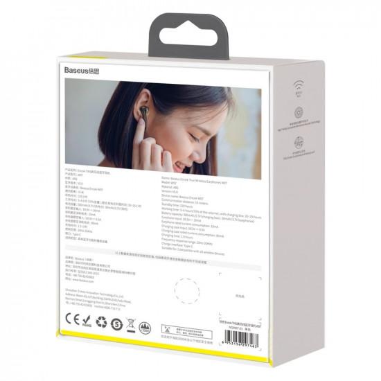 Baseus Encok W07 Mini Wireless Earphones Bluetooth 5.0 - Ασύρματα ακουστικά για Κλήσεις / Μουσική - Black - NGW07-01