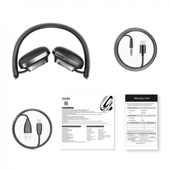 Baseus Encok D01 Wireless Headphones Ασύρματα Bluetooth Ακουστικά - Black - NGD01-0A