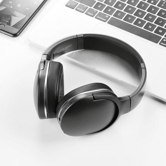 Baseus Encok D02 Wireless Headphones Ασύρματα Bluetooth 5.0 Ακουστικά - Black - NGD02-01