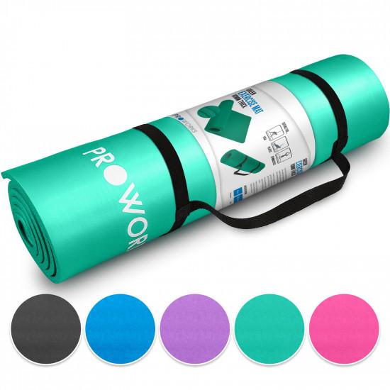 Proworks Workout Mat Στρώμα Γυμναστικής με Χειρολαβή - Mint Green - PW-1000-Z185