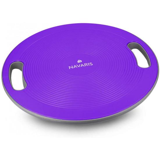 Navaris Balance Board Σανίδα Ισορροπίας - 40cm - Purple - 44181.38