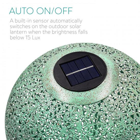 Navaris Outdoor Solar Light Ball Διακοσμητική Φωτεινή Μπάλα - Green Copper - 47543.03