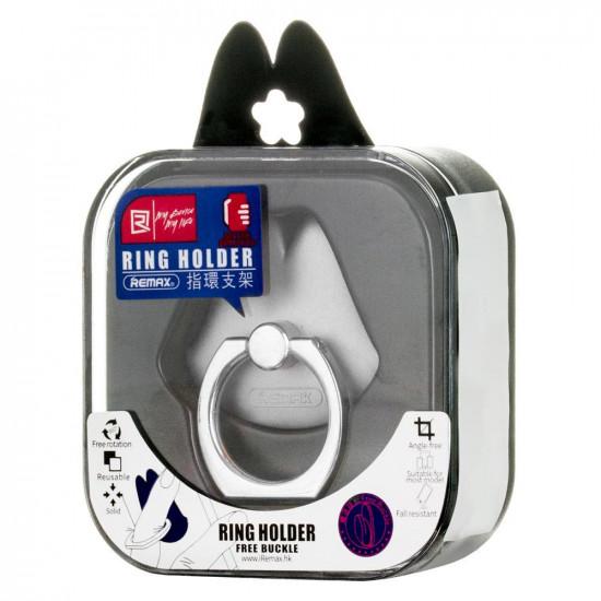 Remax Lips Ring Holder - Δαχτυλίδι Συγκράτησης Κινητού / Tablet - Βάση Στήριξης - Silver
