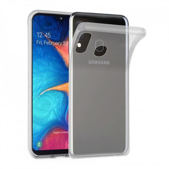 Cadorabo Samsung Galaxy A20e Λεπτή Θήκη Σιλικόνης - Διάφανη