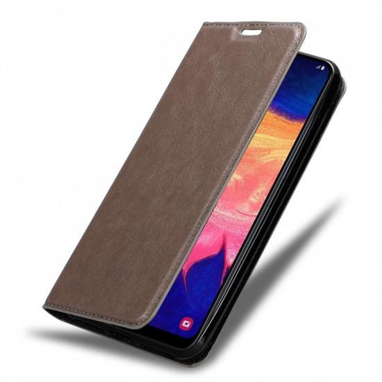 Cadorabo Samsung Galaxy A10 Θήκη Βιβλίο Stand - Brown