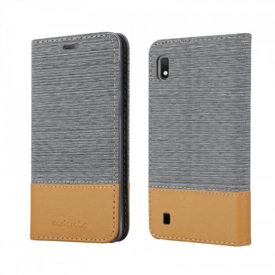 Cadorabo Samsung Galaxy A10 Θήκη Βιβλίο Stand - Grey - Brown