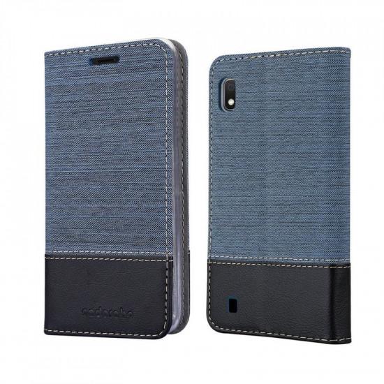 Cadorabo Samsung Galaxy A10 Θήκη Βιβλίο Stand - Blue - Black