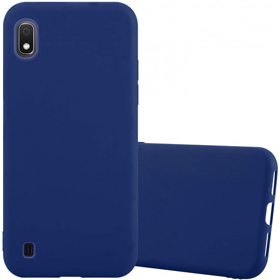 Cadorabo Samsung Galaxy A10 Matte Θήκη Σιλικόνης - Dark Blue