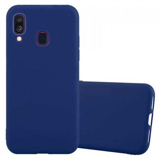 Cadorabo Samsung Galaxy A40 Matte Θήκη Σιλικόνης - Dark Blue