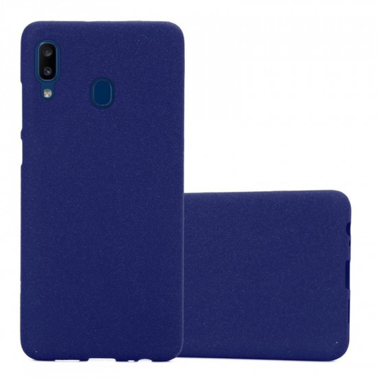 Cadorabo Samsung Galaxy A20e Matte Θήκη Σιλικόνης - Frost Dark Blue
