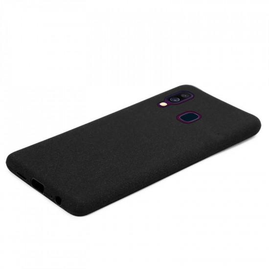 Cadorabo Samsung Galaxy A40 Matte Θήκη Σιλικόνης - Frost Black