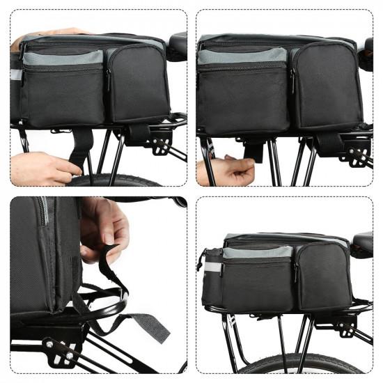 Wozinsky Bicycle Bike Pannier Bag - Τσάντα Αποθήκευσης για Σχάρα Ποδηλάτου με Λουράκι Ώμου 6L - Black - WBB3BK