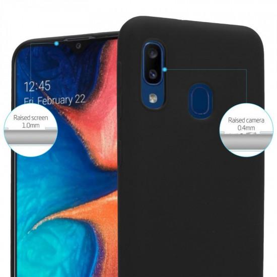 Cadorabo Samsung Galaxy A20e Matte Θήκη Σιλικόνης - Black