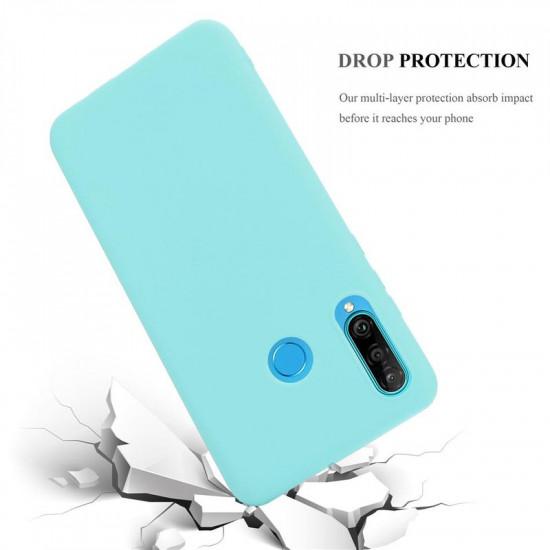 Cadorabo Huawei P30 Lite Matte Θήκη Σιλικόνης - Blue
