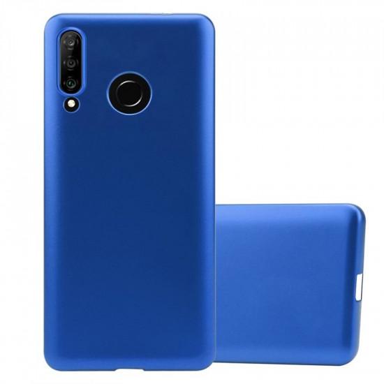 Cadorabo Huawei P30 Lite Θήκη Σιλικόνης - Metallic Blue