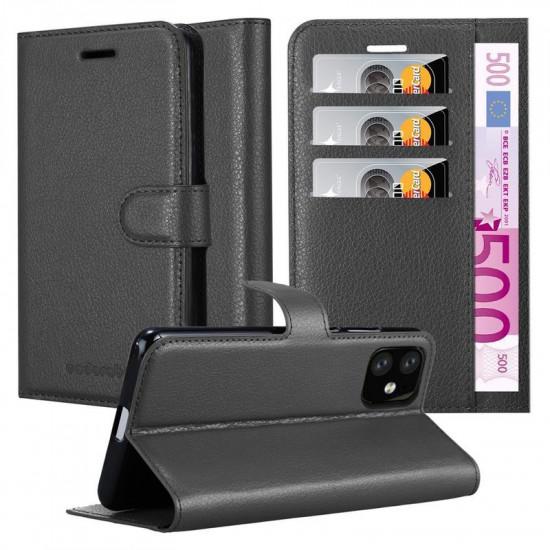Cadorabo Apple iPhone 11 Θήκη Πορτοφόλι Stand από Δερματίνη - Black