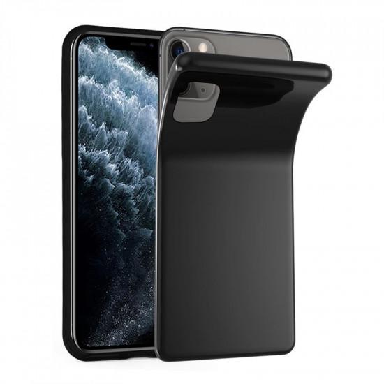 Cadorabo Apple iPhone 11 Pro Max Λεπτή Θήκη Σιλικόνης - Black