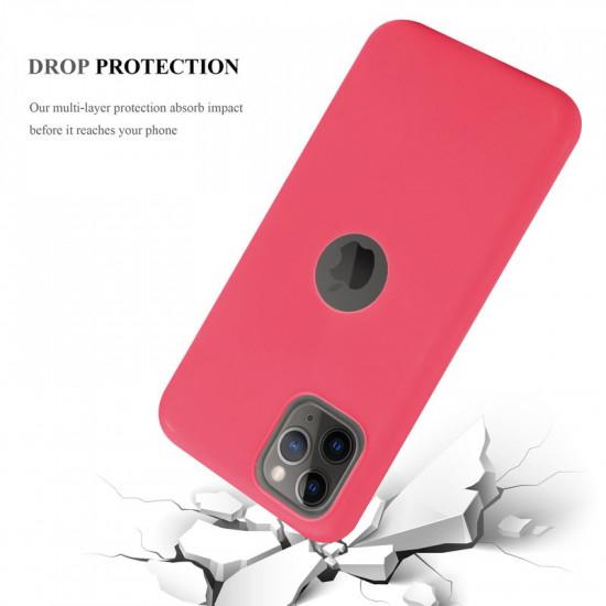 Cadorabo Apple iPhone 11 Pro Max Matte Θήκη Σιλικόνης - Red
