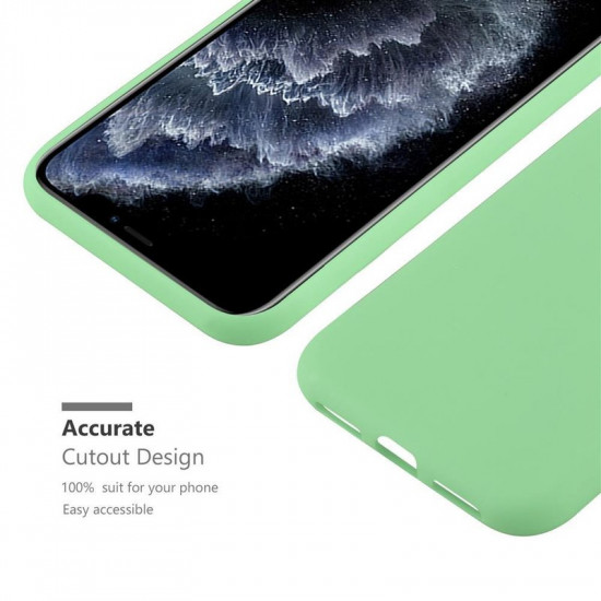 Cadorabo Apple iPhone 11 Pro Max Matte Θήκη Σιλικόνης - Green