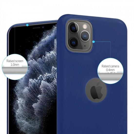 Cadorabo Apple iPhone 11 Pro Max Matte Θήκη Σιλικόνης - Dark Blue