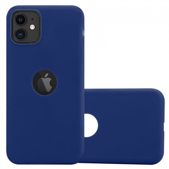 Cadorabo Apple iPhone 11 Matte Θήκη Σιλικόνης - Dark Blue