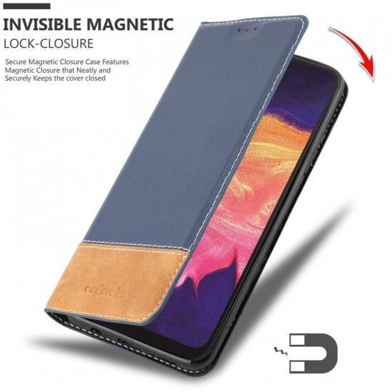 Cadorabo Samsung Galaxy A10 Θήκη Βιβλίο Stand - Blue - Brown