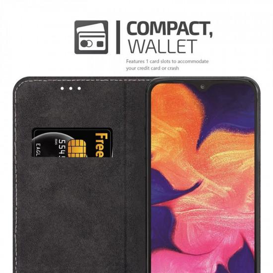 Cadorabo Samsung Galaxy A10 Θήκη Βιβλίο Stand - Rose Gold - Black