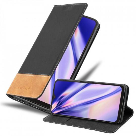 Cadorabo Samsung Galaxy A10 Θήκη Βιβλίο Stand - Black - Brown