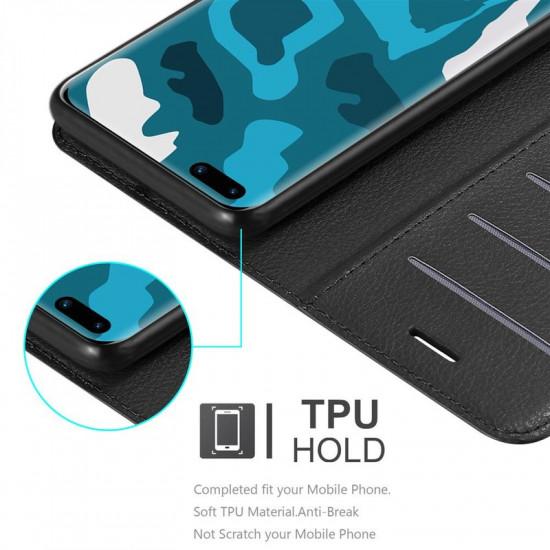 Cadorabo Huawei P40 Θήκη Πορτοφόλι Stand από Δερματίνη - Black