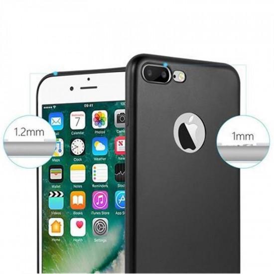 Cadorabo Apple iPhone 7 Plus / 8 Plus Θήκη Σιλικόνης - Metallic Black