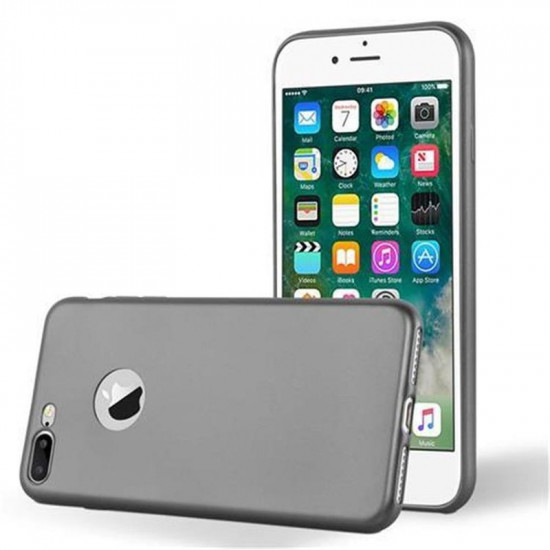 Cadorabo Apple iPhone 7 Plus / 8 Plus Θήκη Σιλικόνης - Metallic Grey
