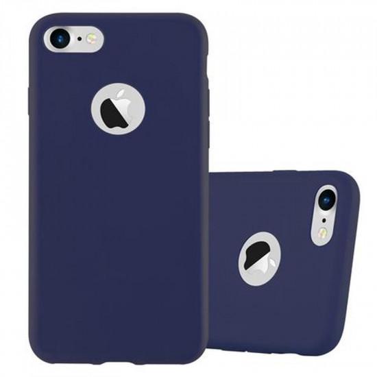 Cadorabo Apple iPhone SE 2020 / 7 / 8 Matte Θήκη Σιλικόνης - Dark Blue