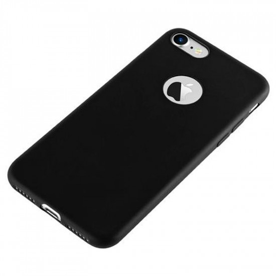 Cadorabo Apple iPhone SE 2020 / 7 / 8 Matte Θήκη Σιλικόνης - Black