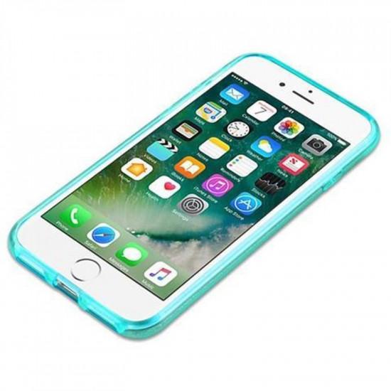 Cadorabo Apple iPhone SE 2020 / 7 / 8 Luxurious Glitter Σκληρή Θήκη - Turquoise