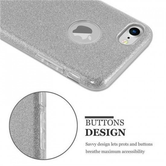 Cadorabo Apple iPhone SE 2020 / 7 / 8 Luxurious Glitter Σκληρή Θήκη - Silver